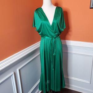Emerald Green Sheer Vintage Dress